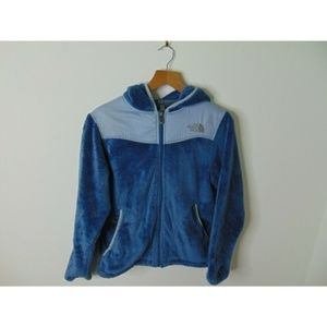 North Face Oso Hoodie Fleece Sweater Jacket Blue